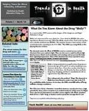 Trends in Health Newsletter Vol. 1: A FREE Report on Drugs