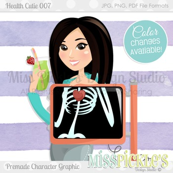 Health Cutie 007, Personal and Commercial Use Character Graphic