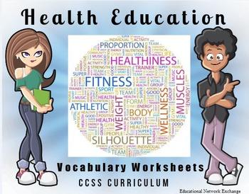 Health Education Vocabulary Worksheets