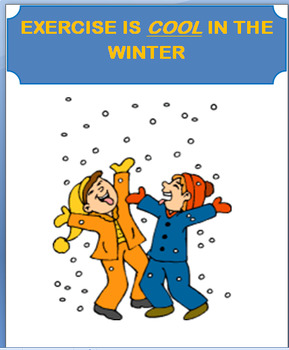 """""""Exercise is Cool in the Winter"""" Art Activity and Lesson"""