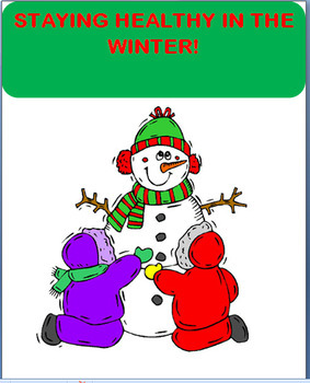 """Winter Health """"Staying Healthy This Winter"""" lesson, art, w"""