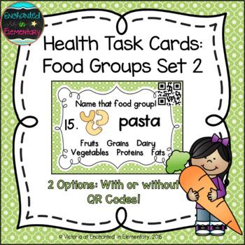 Health Task Cards: Food Groups Set 2