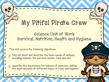 Health and Nutrition unit of work (pirate themed)