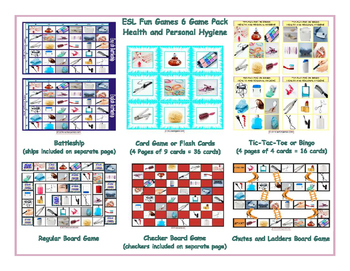 Health and Personal Hygiene 6 Board Game Bundle