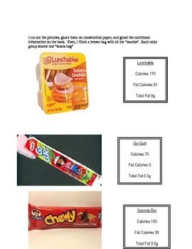 Healthiest Snack - a percentage activity