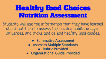 Healthy Food Choices- Nutrition Assessment