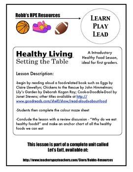 Healthy Food Lesson Grade 1