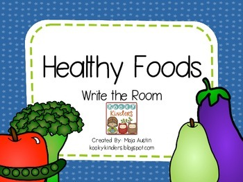 Healthy Foods-Write the Room
