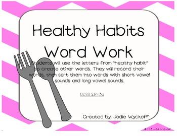 Healthy Habits Literacy Centers