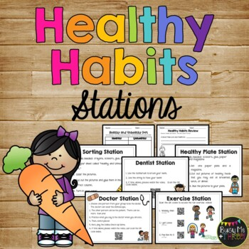 Healthy Habits Stations, Eating Healthy, Doctor, Dentist,