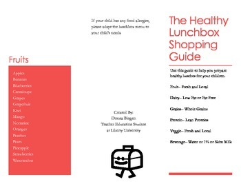 Healthy Lunchbox Guide