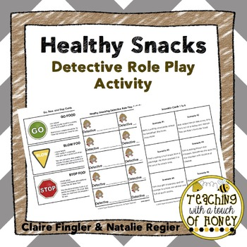 Healthy Snacks Detective Role Play Activity