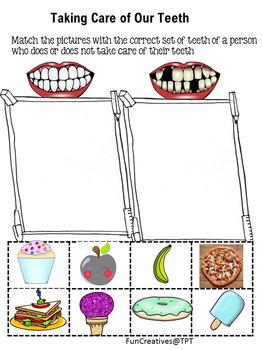 Healthy Teeth Cut and Paste Worksheet