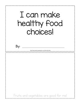 Healthy foods activity booklet {trace and draw} - Canadian