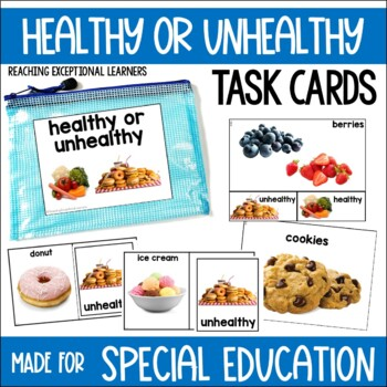 Healthy or Unhealthy Task Card Set