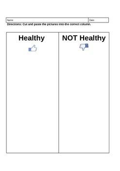 Healthy vs. Unhealthy choices