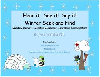 Hear it!   See it!   Say It!   Winter Seek and Find