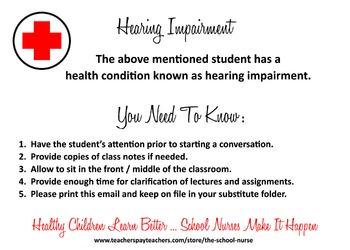 Hearing Impairment digital information card