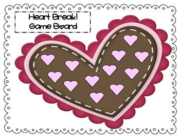 Heart Break!  A Subtraction Game with a Twist  (k-2nd grade)