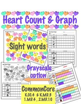Heart Count & Graph  - Common Core Measurement & Data - Si