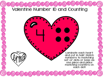 Heart Counting; Matching Number to Objects