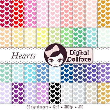 Heart Digital Paper / Background Patterns