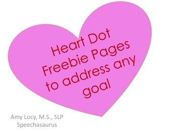 Heart Dot Page FREEBIE to Target Any Goal (No prep)