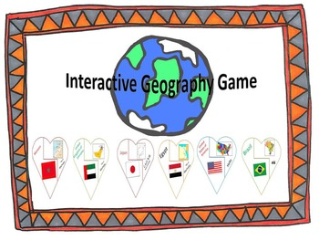 Heart Geography Maps (Interactive geography activity)