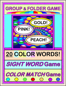 """Color Words, Sight Words!"" -- Group and Folder Games with"