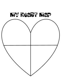 Heart Map, Writing Brainstorm