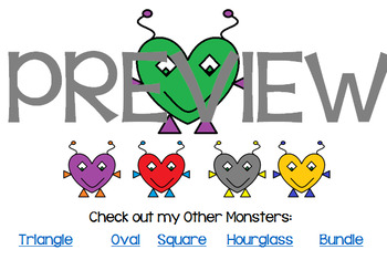 Heart Monsters FREEBIE