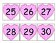 Heart Number Cards/Calendar Cards