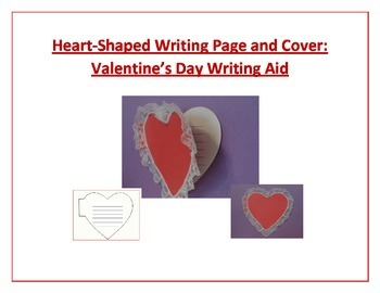 Shaped Writing Page and Cover (Heart): Valentine's Day Wri