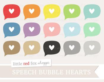 Heart Speech Bubble Clipart