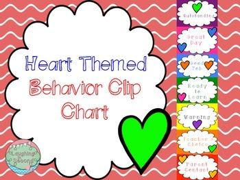 Heart Themed Behavior Clip Chart