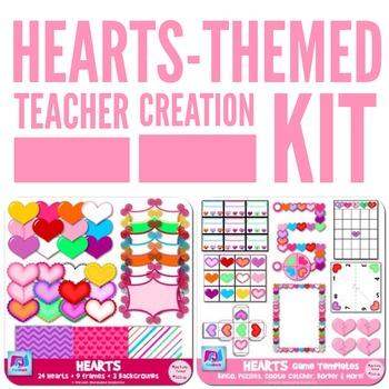 Heart-Themed Valentine's Day Teacher Creation Kit - SALE!!!