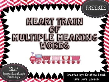 Heart Train of Multiple Meaning Words {FREEBIE}