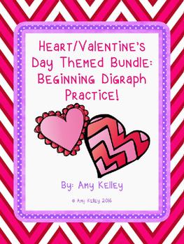 Heart/Valentine's Day Beginning Digraph Activity Bundle