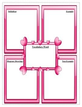 Heart Vocabulary Graphic Organizer