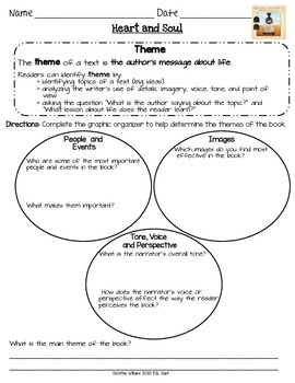 Heart and Soul Graphic Organizers Lesson 11 Readygen 5th g