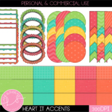 Heart it! Digital Paper and Accent Set