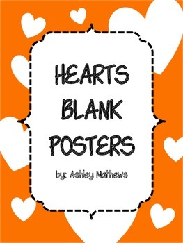 Hearts Border Posters