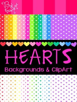 Hearts Digital Backgrounds and Clip Art