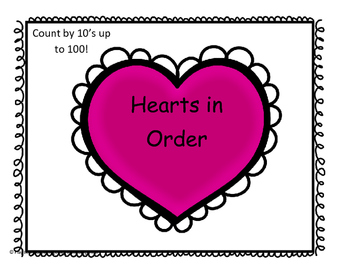 Put the Hearts in Order (Number Sequencing)