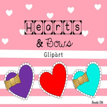Hearts and Bows Clipart
