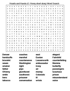 Hearts and Hands (O. Henry)Word Search & Crossword Puzzle