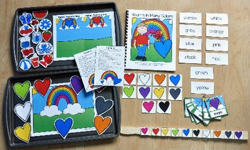 """Valentine's Day Adapted Books Unit: """"Hearts in Many Colors"""""""