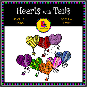Hearts with Tails Clip Art