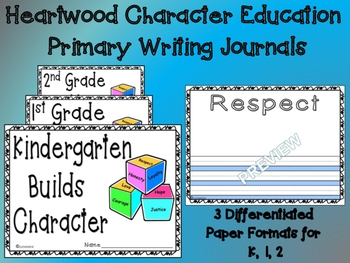 Heartwood Character Education Primary Writing Journals Olw