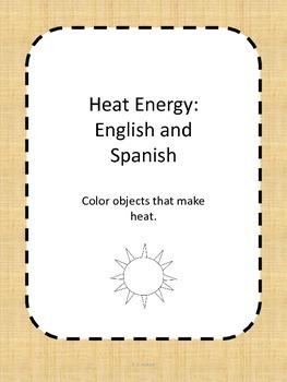 Heat Energy Calor: English AND Spanish